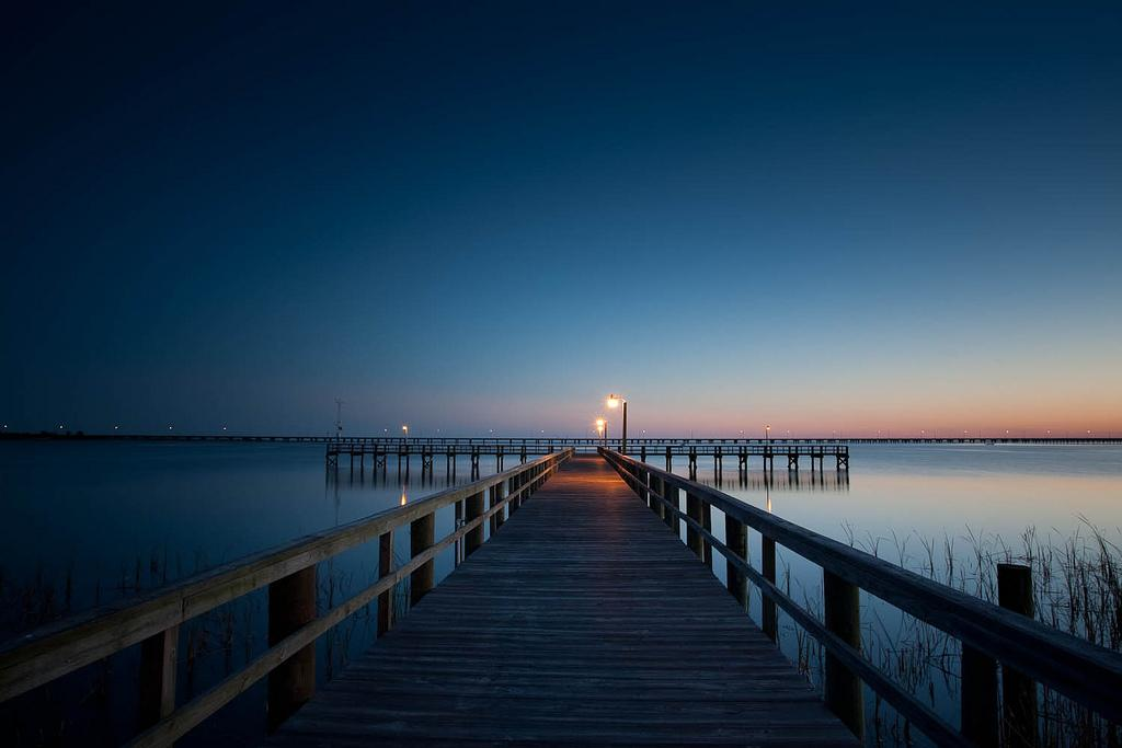 Meaher State Park Pier Over Mobile Bay