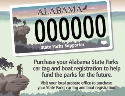 Alabama State Parks Car and Boat Tag